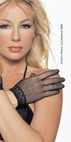 Lingerie gloves satin and mesh